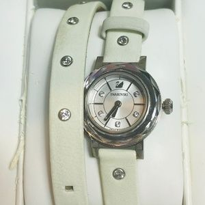 Swarovski Crystal Stud Double Strap Watch